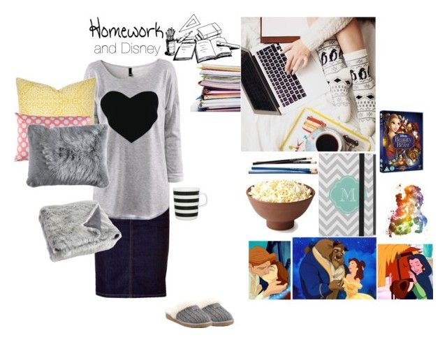 """Homework and Disney"" by meg5255 ❤ liked on Polyvore featuring Full Tilt, UGG Australia, Marimekko, Disney, Barclay Butera and Pier 1 Imports"