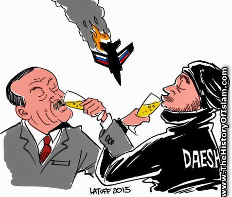 TheHistoryofIslam.com cartoons from across the world. Erdogan shoots down Russian jet in support of DAESH