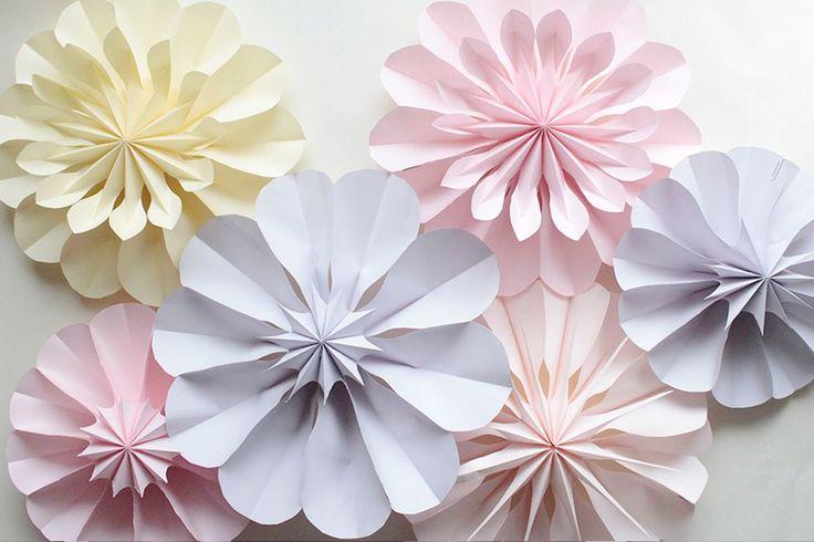 ウォールフラワー風な可愛い立体のお花ファン♪ 封筒で簡単に作れちゃいます!