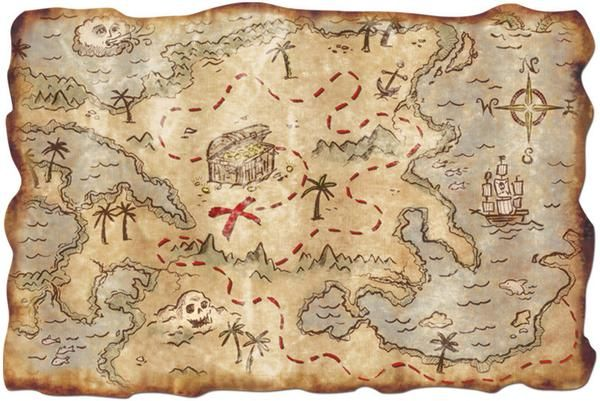 Plot yer course and way anchor on yer way to the treasure, matey's! Add this detailed treasure map to your pirate party festivities for tons of pirate fun. Great for games and decoration. Includes 1 t