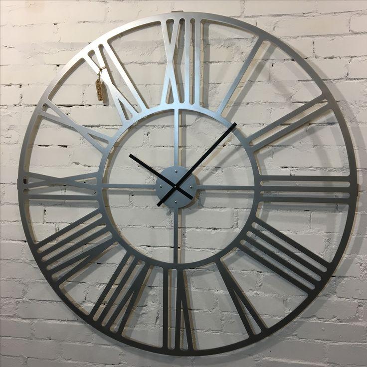 Большие настенные часы 1,2 метра из нержавейки. Loft дизайн.