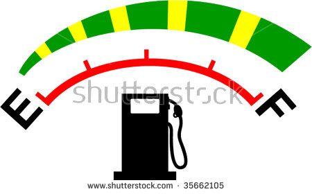 Fuel meter gauge icon or symbol showing empty to full levels #fuelgauge #retro #illustration