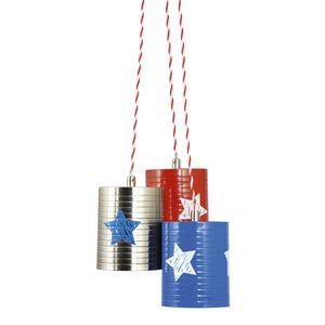 suspension enfant en mtal bleu rouge et gris avec toile lief cette cascade de luminaire - Modele De Chambregarcon Ado Blanc Et Gris