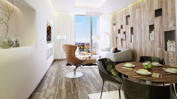 Luxury apartment renovation- living room design, Budapest, Hungary