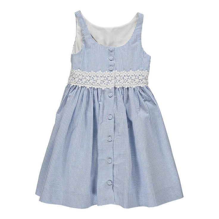 Little Seersucker Kleid Blau Ralph Lauren - Kindermode - Smallable