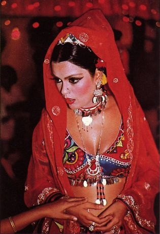 Zeenat Aman known for her role in Satyam Shivam Sundaram 1978.