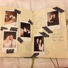 Een leuke foto maken, in het gastenboek plakken met een leuke berichtje voor bruid en bruidegom