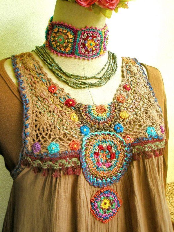 https://flic.kr/p/e5hqKe | ~ chochet by me ~ | modify my old dress