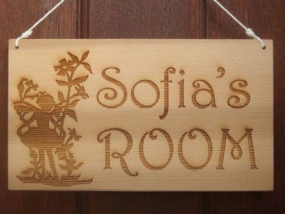 Personalised Girl's Door Sign  Fairy Laser by BezalelArtShop