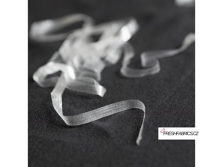Transparentní elastická guma 6mm. Průhledná elastická gumička