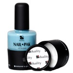 Nail Polishes That Do More - Prevention.com   Duality Nail Pak  fifteen dollars. Packaging includes the polish, a file, and polish remover pads in one perfect little twist-off bottle! Marina(shown), Michelle (metallic red) and Sandy (creamy nude.) Formaldehyde, DBP, and Toulene free and no animal testing.