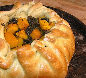 ... kale galette recipe though maybe with sweet potatoes instead and feta