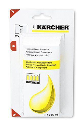 Karcher Nettoyant vitres concentré 4 x 20 ml pour le nettoyeur de vitres WV réf 6.295-302.0: Price:4.74Détergent pour vitresContient : 4 x…