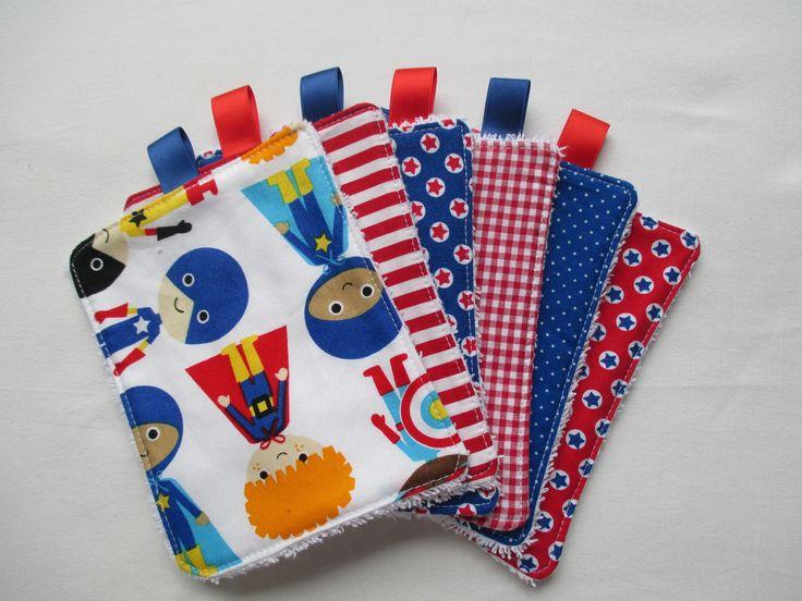 lingettes lavables coton et éponge + pochette de rangement : Puériculture par de-tout-coeur