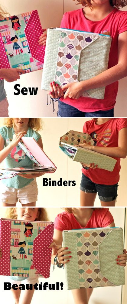 Notebook Slipcover PDF Sewing Pattern.  Covers binders and spiral notebooks!  By Virginia Lindsay of Gingercake Patterns