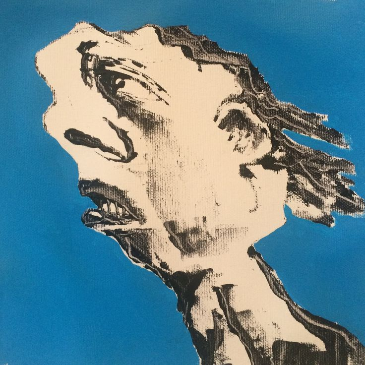 """Face XIV"". 22x22 cm. Copenhagen 2015."