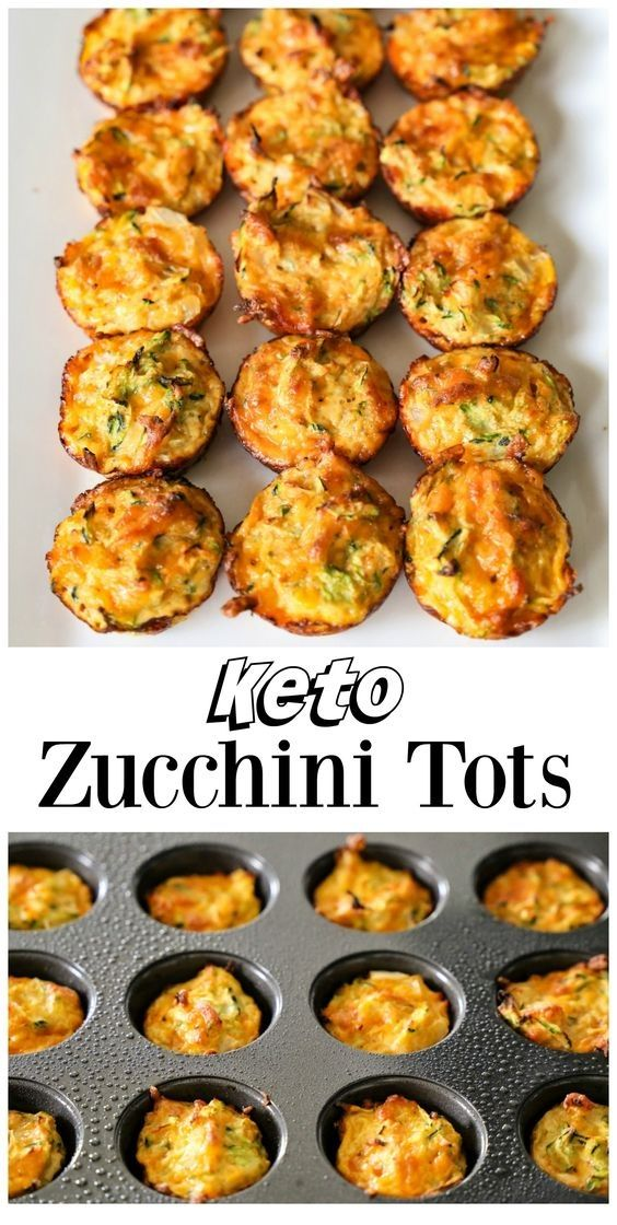 Zucchini Tots | Keto-Rezepte   – Keto/Low Carb Food