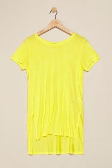 My #closet: a dress? No, a #longTshirt! Yellow asymmetric T-Shirt by @terranovastyle #summerfashion