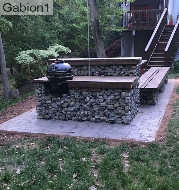 Gabion seating patio area. https://www.gabion1.com