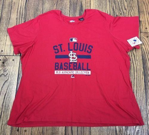 St Louis Cardinals T Shirt Red 100% Cotton 4XL MLB Baseball Nwt. 542