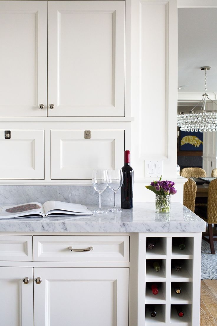 Great built-in wine holder. White cabinets are my fav. #LGLimitlessDesign #Contest