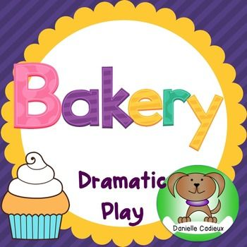 Included in this packet for a Bakery dramatic play center are a variety of props, and opportunities for student writing.-Welcome to the Bakery sign-Open sign-Closed sign-16 vocabulary word cards (bakery items and flavors)-3 templates for chef hats-4 shape templates to design a cake-bakery order form-customer feedback form-Enter the Bakery recipe contest sign-Recipe contest entry form-Bakery secret recipe cardHappy Baking!Graphics: www.letteringdelights.comhttps://www.teacherspayteachers.com/S...