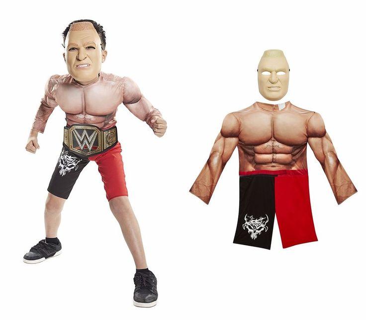 WWE Brock Lesnar Mask Padded Muscle Suit Kids Size 4-6X Halloween Costume #JAKKSPACIFIC #BODYSUITWTHMASK