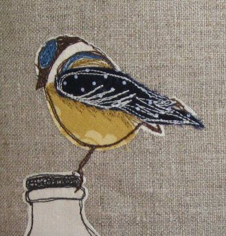 Bluetit embroidery