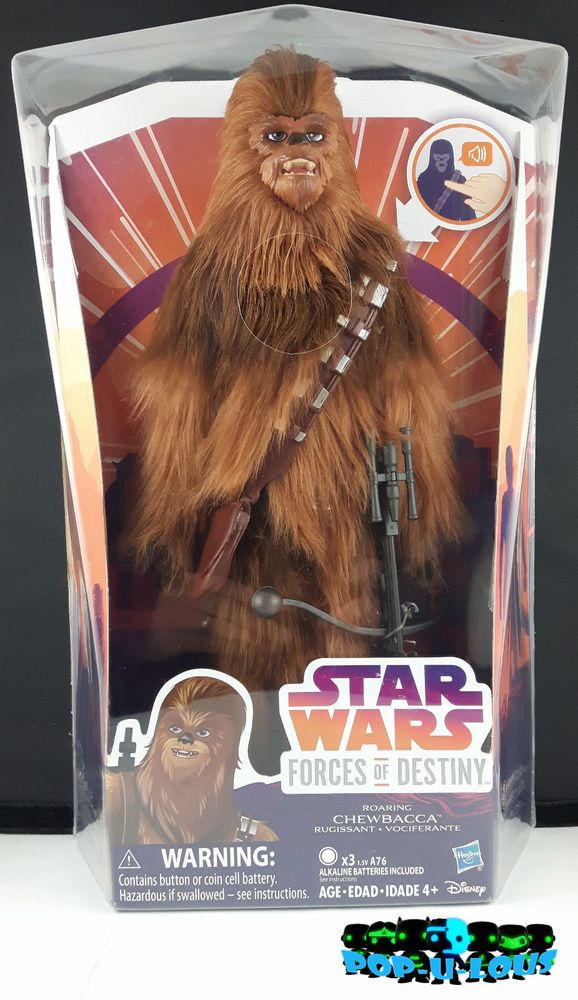 "Star Wars Forces of Destiny 11"" ELECTRONIC ROARING CHEWBACCA FIGURE  Doll Hasbro"