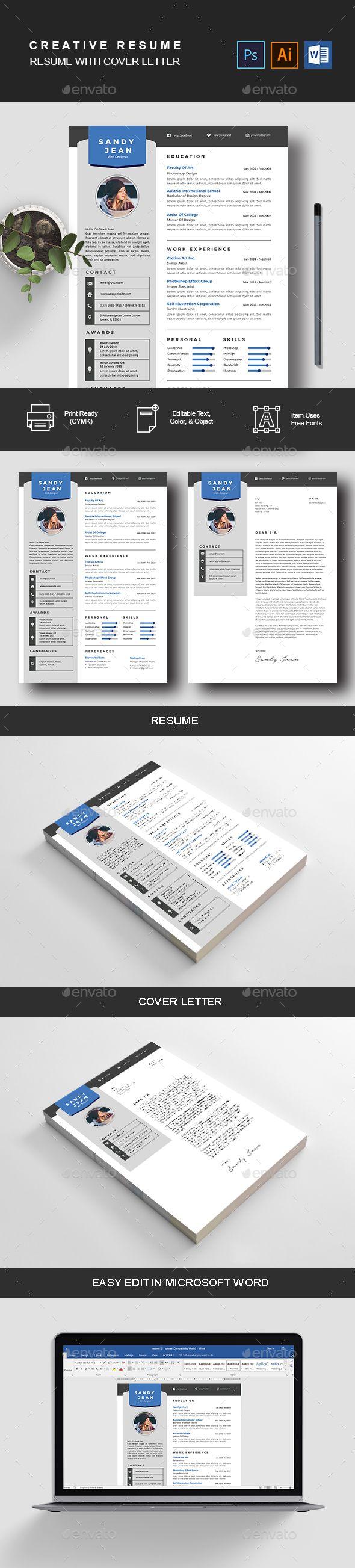 Modern Resume u0026 Cover Letter Design Template