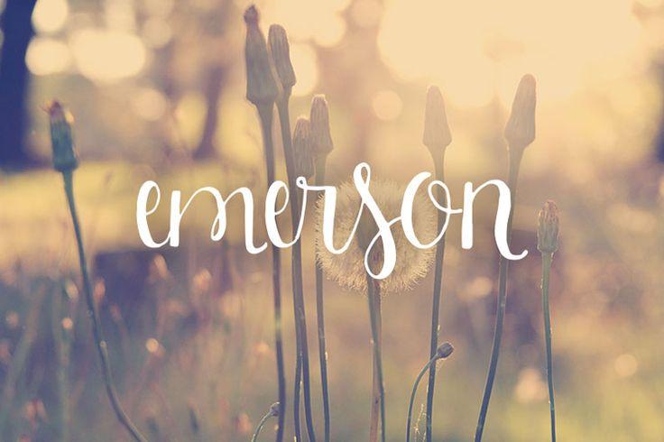 Emerson Script Font