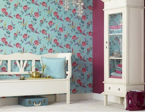 Pose Azure is bright and vibrant. It is $149 per roll from www.wallcandywallpaper.com.au