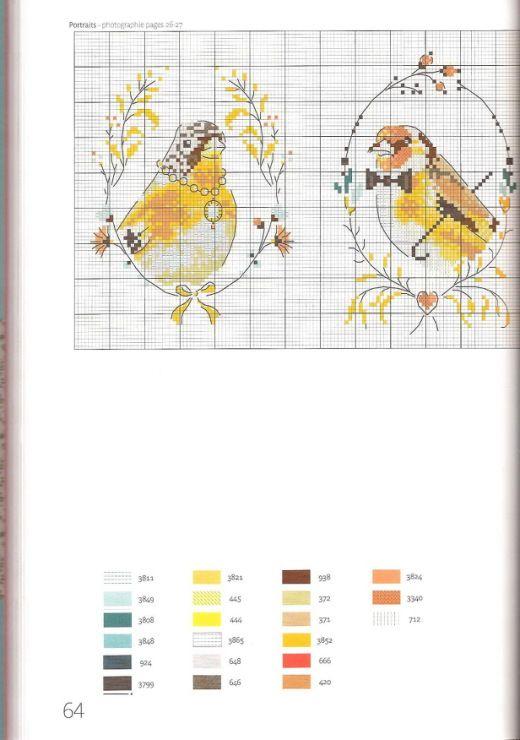 Gallery.ru / Фото #57 - Helene Le Berre - Les oiseaux a broder - velvetstreak