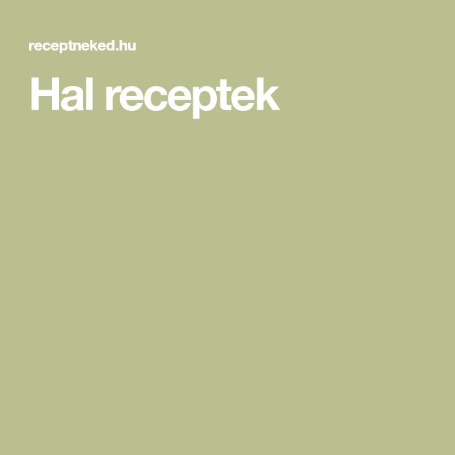 Hal receptek