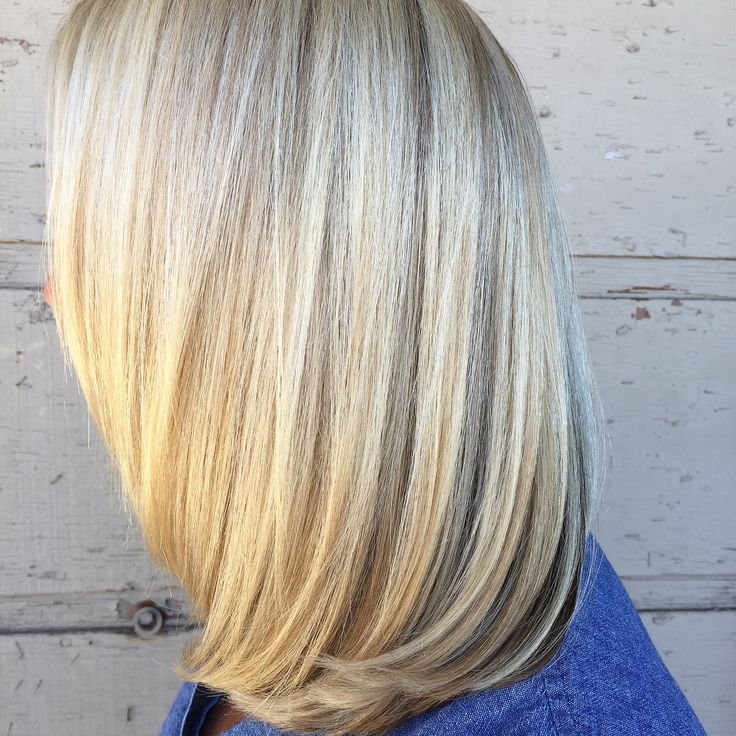 California Blonde Heavy Highlights And Root Soften