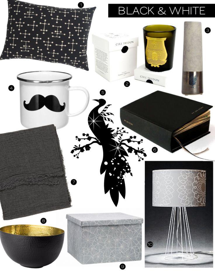 F te des m res id es cadeaux d co en noir et blanc for Deco idee cadeau