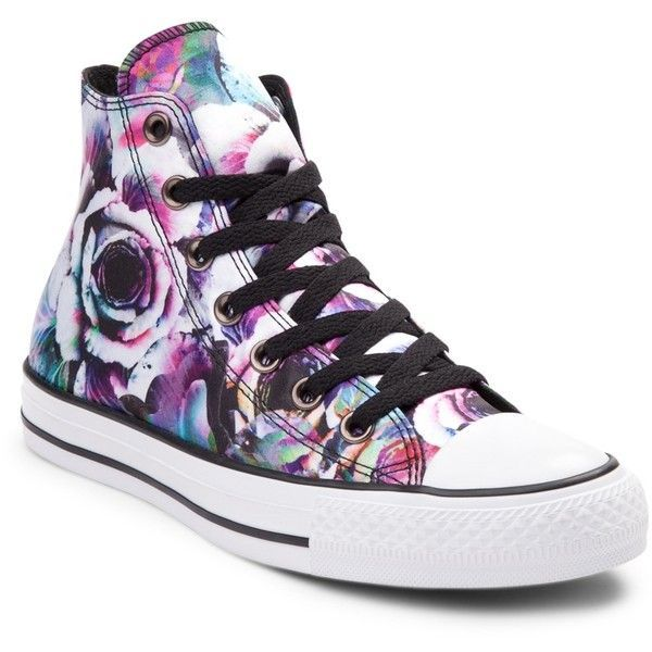 8f6a6463c0ef04 Converse Chuck Taylor All Star Hi Dead Floral Sneaker ( 50) ❤ liked on  Polyvore featuring shoes