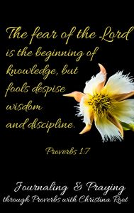 The fear of of the Lord is the beginning of knowledge, but fools despise wisdom and discipline. Proverbs 1:7