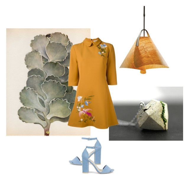 Just Had To Say It by rhymingscapes on Polyvore featuring VIVETTA, Nly Shoes, WALL and Hubbardton Forge
