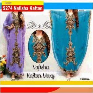 Baju Gamis Pesta Nafisha Kaftan s274   Distributor Gamis Modern Terbaru Murah