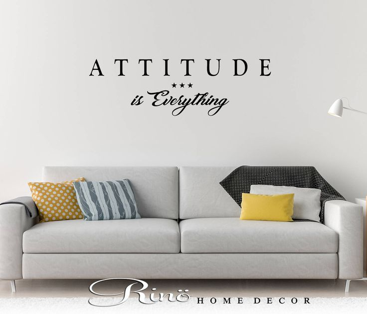 Attitude is everything wall decal wall quote vinyl lettering sticker home decor wall saying by RINOhomedecor on Etsy
