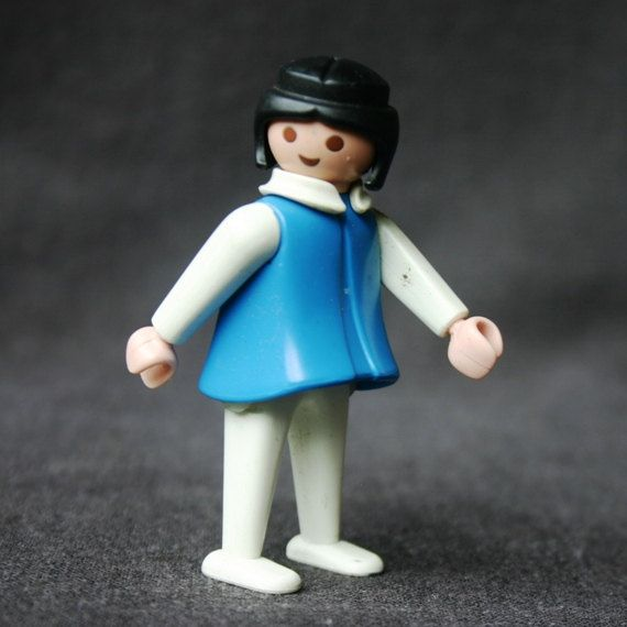Vintage 1974 blue Playmobil.