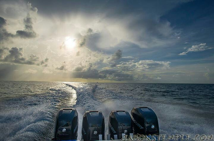 Morning commute.  Mercury Marine