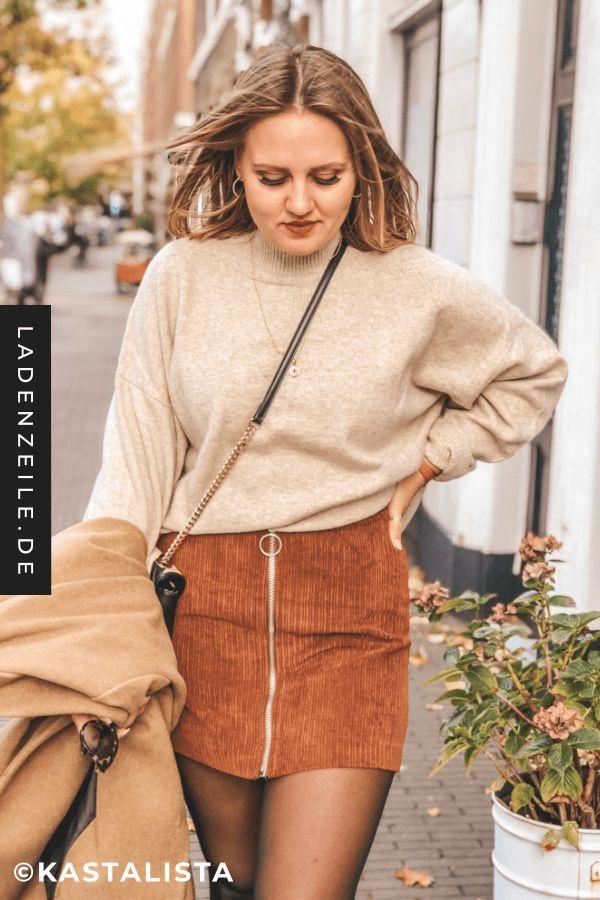 eine große Auswahl an Modellen billig werden an vorderster Front der Zeit Influencer-Tipps: So stylst du den Cordrock | Outfit ...