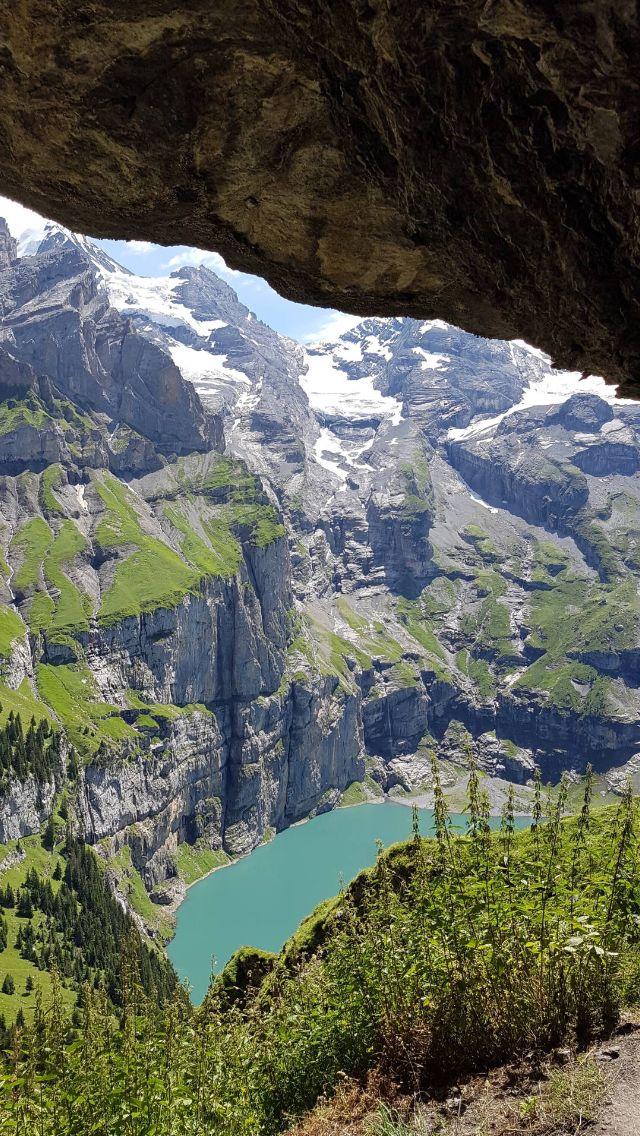 Oschinensee by Kandersteg, Switzerland