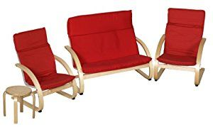 ECR4Kids Comfort Chairs and Table Set, 4 Pieces, Red: Childrens Furniture: Amazon.com: Industrial & Scientific