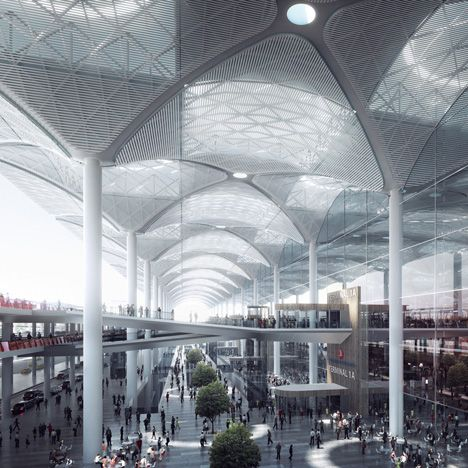 "Grimshaw unveils ""world's largest airport terminal under one roof"" for Istanbul"
