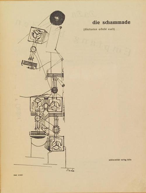 Johannes Baargeld, Max Ernst, Die Schammade. Dilettanten erhebt euch!, Cologne, Schloemilch Verlag, numéro 1 (unique), avril 1920, 32,4 X 25