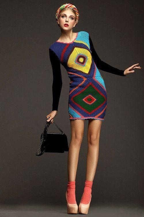 Oh So Cool Crochet Dress ~ Inspiration!