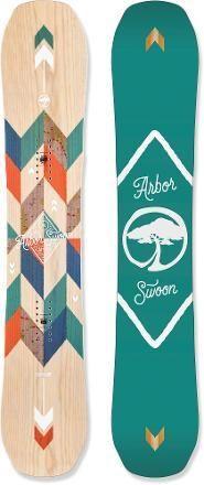 ARBOR Swoon Camber Snowboard - Women's  147cm $449.95 http://www.rei.com/product/888792/arbor-swoon-camber-snowboard-womens-20152016